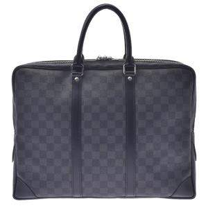 Louis Vuitton Black Damier Graphite Canvas Porte-Documents Voyage Bag