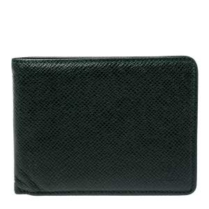 Louis Vuitton Green Taiga Leather Multiple Wallet