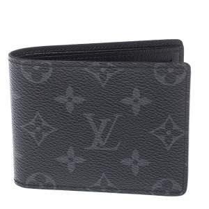Louis Vuitton Monogram Eclipse Canvas Multiple Bifold Wallet