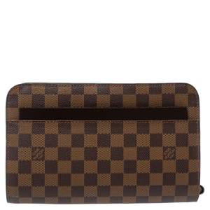 Louis Vuitton Damier Ebene Canvas Saint Louis Pochette Clutch