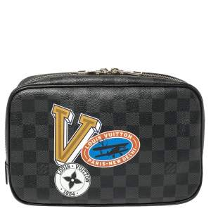 Louis Vuitton Damier Graphite Canvas LV League Toilet Pouch GM