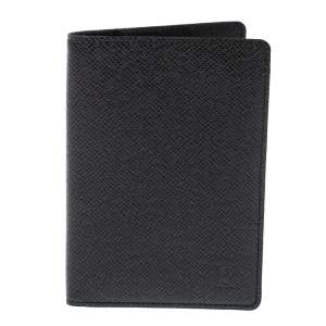 Louis Vuitton Black Taiga Leather Passport Holder