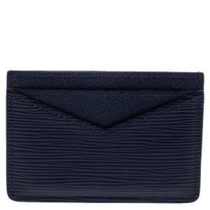 Louis Vuitton Blue Marine Epi Leather Neo Porte Cartes Card Holder