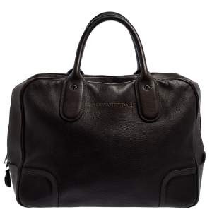 Louis Vuitton Marron Fonce Siwa Leather Soft Briefcase
