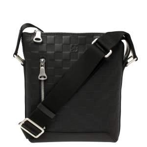 Louis Vuitton Black Damier Leather Infini Discovery BB Messenger Bag