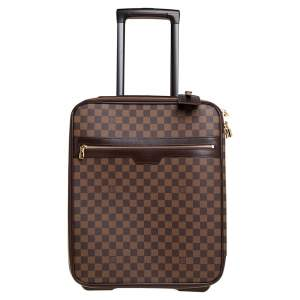 Louis Vuitton Damier Ebene Canvas Pegase 45 Luggage