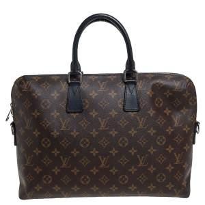 Louis Vuitton Monogram Macassar Canvas Porte-Documents Jour Bag
