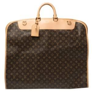 Louis Vuitton Monogram Canvas 2 Hangers Garment Cover Bag
