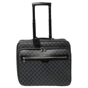 حقيبة سفر لوي فيتون بايلوت كانفاس دامييه غرافيت