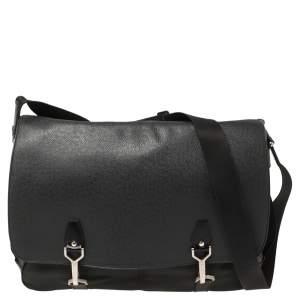 Louis Vuitton Black/Green Taiga Leather Dersou Messenger Bag