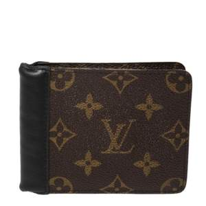 محفظة لوي فيتون جاسباركانفاس مونوغرامي وحواف جلد ثنائية الطي
