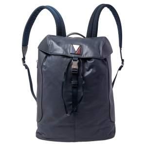 حقيبة ظهر لوي فيتون ڨي لين بولس نايلون وجلد أزرق كحلي