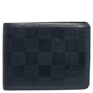 Louis Vuitton Navy Blue Damier Infini Leather Slender Wallet