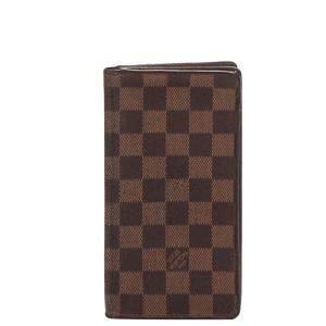 Louis Vuitton Brown Damier Ebene Canvas Brazza Wallet