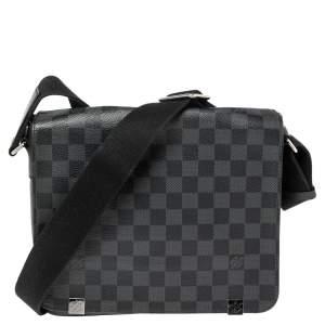 Louis Vuitton Damier Graphite Canvas District PM Bag
