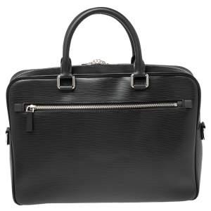 Louis Vuitton Black Epi Leather Porte Documents Business Briefcase