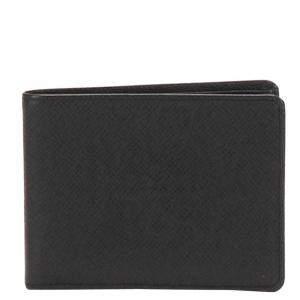 Louis Vuitton Black Taiga Leather Bi-Fold Wallet