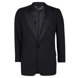 Louis Vuitton Black Wool Contrast Lapel Detail Blazer XL