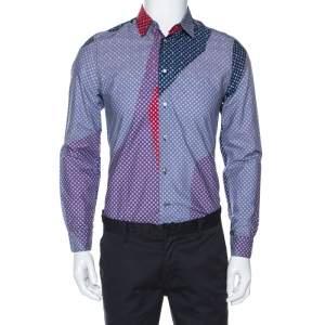 Louis Vuitton Multicolor Monogram Stars Print Cotton Shirt M