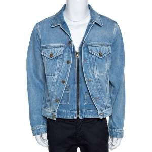 Louis Vuitton Blue Plain Rainbow XIX Denim Jacket M
