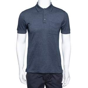 Louis Vuitton Hale Navy Cotton Pique Polo T Shirt M