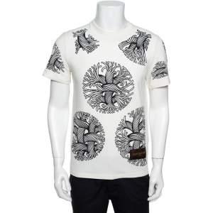 Louis Vuitton Off White Christopher Nemeth Rope Print Cotton T-Shirt S