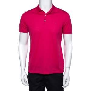 Louis Vuitton Fuschia Pink Cotton Pique Polo T-Shirt S