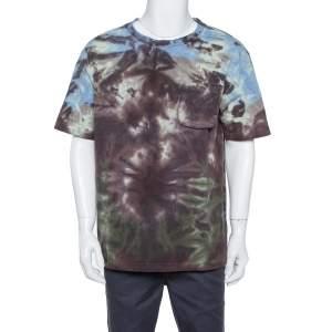 Louis Vuitton Multicolor Tie-Dye Printed Knit Pocket Detail T Shirt L