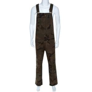 Louis Vuitton x Supreme Green Camo Print Denim Overalls XXS