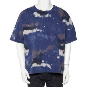 Louis Vuitton Blue Tie Dye Cotton Abloh Camouflage T-Shirt XXL