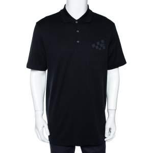 Louis Vuitton Black Cotton Damier Pocket Printed Polo T-Shirt XXL