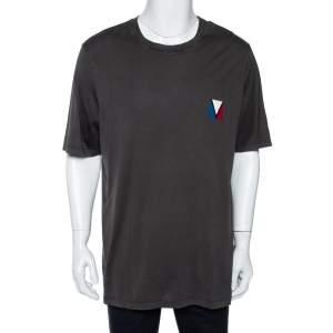 Louis Vuitton Brown America's Cup Printed Cotton Crewneck T-Shirt XXL