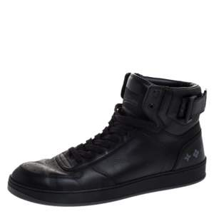 Louis Vuitton Black Leather Rivoli High Top Sneakers Size 42