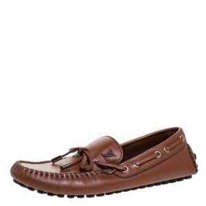 Louis Vuitton Brown Leather Arizona Loafers Size 40.5