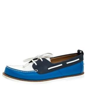 Louis Vuitton Multicolor Leather And Damier Ebene Boat Deck Derby Size 45