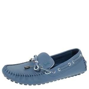 Louis Vuitton Blue Leather Bow Arizona Mocassin Size 41