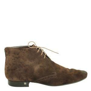 Louis Vuitton Brown Suede Lace-Up Desert Boots