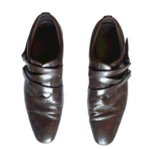 حذاء لوفرز لوي فيتون بسير فيلكرو جلد دامييه إينفيني بني مقاس 43