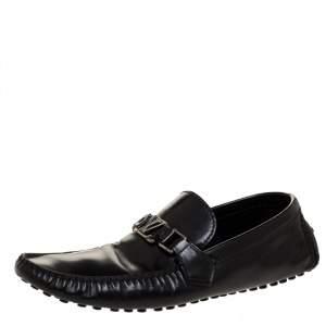 حذاء لوفرز لوي فيتون مونت كارلو سليب أون جلد أسود مقاس 43