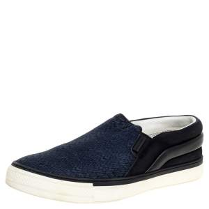 Louis Vuitton Suede Leather And Fabric Twister Slip On Sneakers Size 41.5