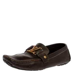 حذاء لوفرز لوي فيتون مونت كارلو جلد بني مقاس 41.5