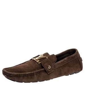 """حذاء لوفرز لوي فيتون """"مونت كارلو"""" سويدي بني مقاس 44"""