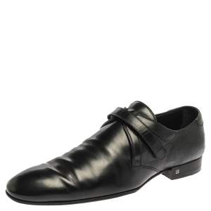 Louis Vuitton Black Leather Monk Strap Derby Size 44