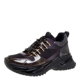 Louis Vuitton Brown/Black Monogram Canvas And Mesh Runaway Pulse Sneakers Size 39.5