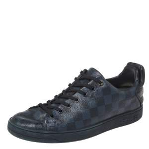 Louis Vuitton Damier Graphite Canvas And Black Leather Frontrow Low Top Sneakers Size 41