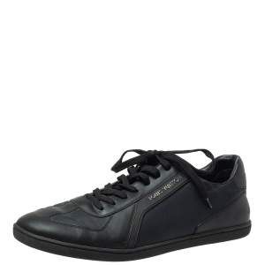 Louis Vuitton Black Nylon and Leather Low Top Sneakers Size 42