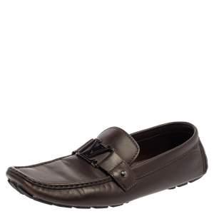 حذاء لوفرز لوى فيتون مونت كارلو جلد بنى مقاس 46