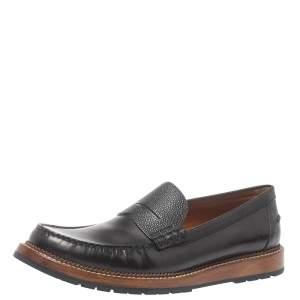 حذاء لوفرز لوى فيتون سليب أون جلد أسود مقاس 45