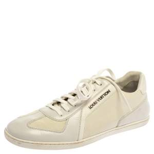 Louis Vuitton Off White Leather Low Top Sneakers Size 40