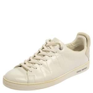 حذاء رياضى لوى فيتون منخفض من أعلى فرونترو جلد منقوش أبيض مقاس  42.5